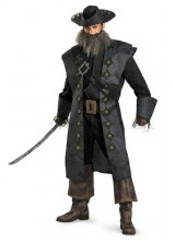 Mens Deluxe Adult Blackbeard Plus Size Costume