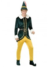 Mens Deluxe Elf Plus Size Costume