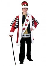 Mens Deluxe King of Hearts Plus Size Costume