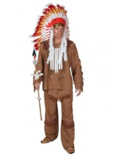Mens Deluxe Mens Indian Plus Size Costume