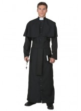 Mens Deluxe Priest Plus Size Costume