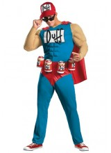 Mens Men's Duffman fom The Simpsons Plus Size Costume