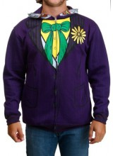 Mens Joker  Hooded Sweatshirt Plus Size Costume