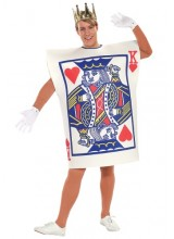 Mens King of Hearts Plus Size Costume