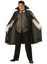 Mens Midnight Vampire Plus Size Costume