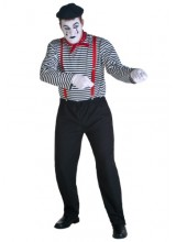 Mens Mime Plus Size Costume