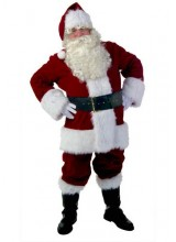 Mens Premiere Santa Suit Plus Size Costume