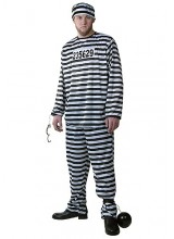 Mens Men's Prisoner Plus Size Costume