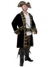 Mens Men's Realistic Pirate Plus Size Costume