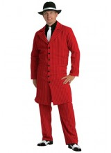 Mens Red Gangster Zoot Suit Plus Size Costume