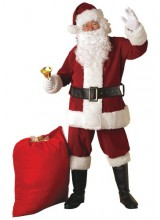 Mens Regal Santa Suit Plus Size Costume