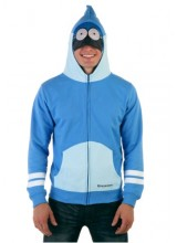 Mens Regular Show Mordecai  Hoodie Plus Size Costume