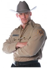 Mens Sheriff Shirt Plus Size Costume