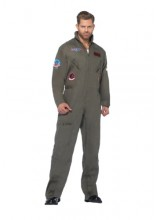 Mens Top Gun Jumpsuit Plus Size Costume