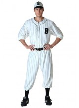 Mens Vintage Baseball Player Plus Size Costume