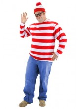 Mens Where's Waldo Plus Size Costume