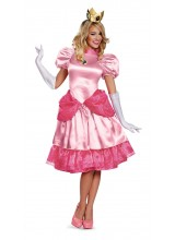 Super Mario Bros Deluxe Princess Peach Womens Plus Size Costume
