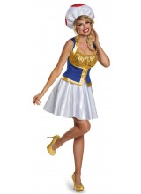 Super Mario Bros Toad Womens Plus Size Costume