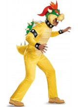 Super Mario Deluxe Bowser Mens Plus Size Costume