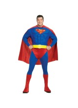 Superman Muscle Chest Mens Plus Size Costume