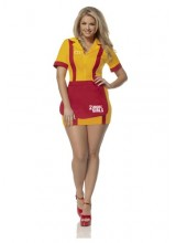 Womens 2 Broke Girls Waitress Plus Size Costume