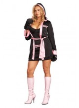 Womens Boxer Girl Plus Size Costume