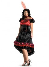 Womens Can Can Plus Size Costume