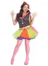 Womens Clownin Around Plus Size Costume