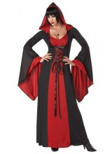 Womens Deluxe Sexy Hooded Robe Plus Size Costume