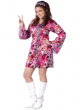 Womens Feelin Groovy Dress Plus Size Costume