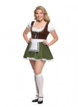 Womens Female Bavarian Girl Plus Size Costume