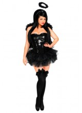 Womens Female Dark Angel Corset Plus Size Costume
