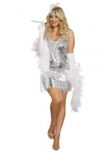 Womens Female Life of the Party Flapper Plus Size Costume