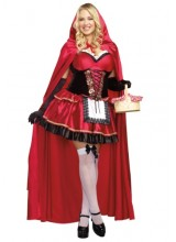 Womens Female Little Red Plus Size Costume