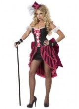 Womens Female Parisian Showgirl Plus Size Costume