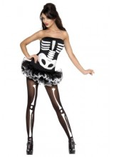 Womens Female Sexy Skeleton Plus Size Costume