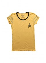 Womens Female Star Trek Starfleet Gold  T Shirt Plus Size Costume