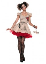 Womens Female Voodoo Doll Plus Size Costume