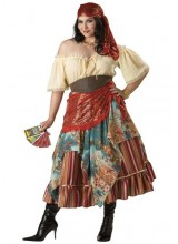 Womens Fortune Teller Plus Size Costume
