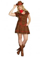 Womens Giddy Up Cowgirl Plus Size Costume