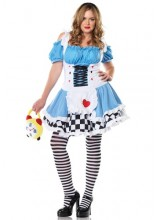 Womens Miss Wonderland Plus Size Costume