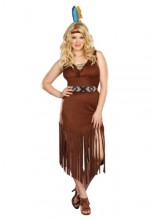 Womens Mystic Indian Maiden Plus Size Costume