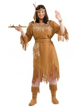 Womens Native American Indian Plus Size Costume