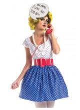 Womens Pop Art Cutie Plus Size Costume