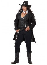 Womens Round Em Up Cowgirl Plus Size Costume