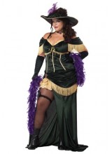 Womens Saloon Madame Plus Size Costume
