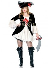 Womens Sexy Captain Swashbuckler Plus Size Costume