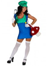 Womens Sexy Green Plumber Plus Size Costume