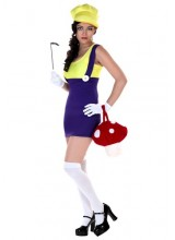 Womens Sexy Purple Plumber Plus Size Costume