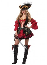 Womens Sexy Spanish Pirate Plus Size Costume